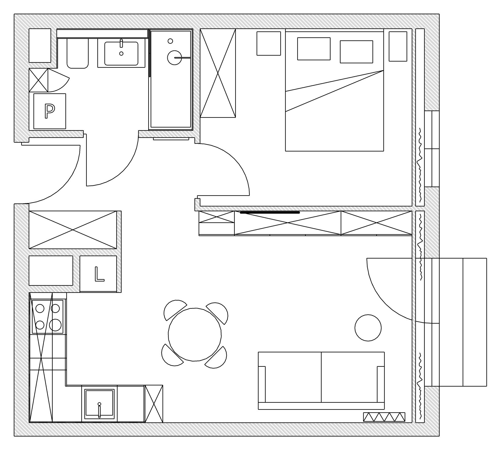 Mieszkanie dla młodej pary. Skog Interior design Łódź Poland. Projektowanie wnętrz.