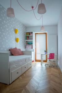 Mieszkanie dla trzyosobowej rodziny. Skog Interior design Łódź Poland. Projektowanie wnętrz.
